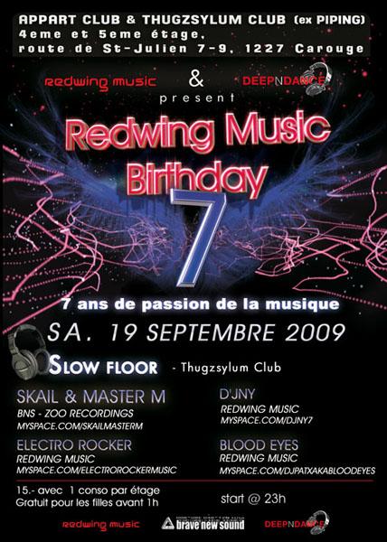 Redwing Music Birthday